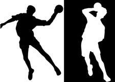 手球球员 向量例证