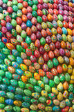 手画五颜六色的复活节彩蛋 免版税图库摄影