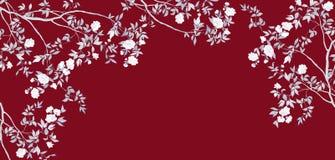 手画分支和花手画分支和花 向量例证