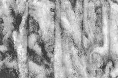 摘要被绘的黑白水彩背景 免版税库存图片