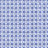 手画水彩瓦片样式在荷兰德尔福特蓝色样式 免版税库存照片