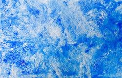 手画蓝色水彩摘要背景 免版税库存图片