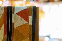 手画蜡染布织品样式 免版税库存照片