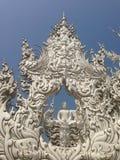 手白色寺庙,wat rong khun,清莱细节  库存照片