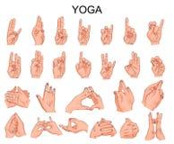 手的位置在瑜伽,在凝思 免版税库存照片