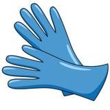 手的手套 女性冬天辅助部件 妇女在动画片样式给唯一象穿衣 皇族释放例证