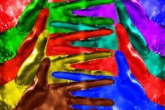 从手的抽象 图库摄影