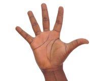 手的10个标志避免海外 库存图片