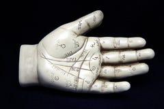 手相术雕塑 免版税库存照片