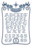 水手纹身花刺类型 免版税库存照片