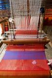 手织机纺织品 免版税图库摄影