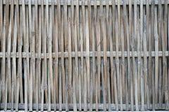 手织的分裂竹墙壁特写镜头水平的背景 库存图片