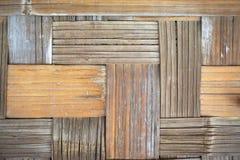 手织的分裂竹篮子特写镜头水平的背景 库存照片