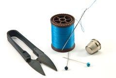 手缝合的工具 免版税库存图片