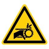 手缠结利用链条传送动力的装备标志标志,传染媒介例证,在白色背景标签的孤立 EPS10 向量例证