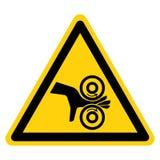 手缠结路辗标志标志,传染媒介例证,在白色背景标签的孤立 EPS10 向量例证