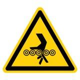 手缠结路辗标志标志,传染媒介例证,在白色背景标签的孤立 EPS10 库存例证