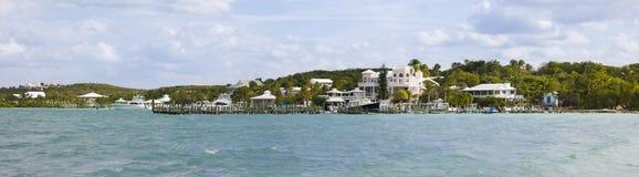 手肘岩礁,巴哈马全景  库存图片