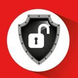 手藏品挂锁安全盾数据 库存图片