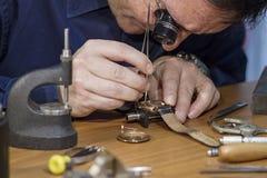 手表修理 免版税库存图片