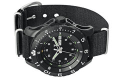 手表军事腕子 库存照片