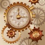 手表和嵌齿轮蒸汽废物 库存照片