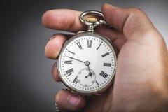 手表在手中 免版税库存图片