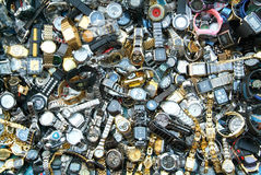 手表在仰光市场上  免版税库存照片