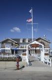 手表小山游艇俱乐部在罗德岛州 图库摄影