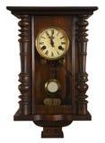 手表葡萄酒墙壁 免版税库存照片