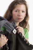 手袋妇女年轻人 库存照片