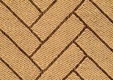 手被编织的西沙尔麻地毯细节 图库摄影