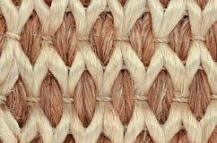 手被编织的/被栓的地毯细节 库存图片