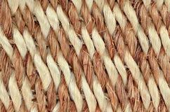手被编织的/被栓的地毯细节 免版税库存图片