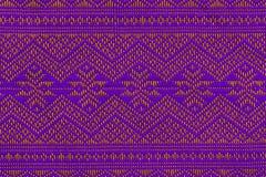 手被编织的传统Lanna 免版税图库摄影