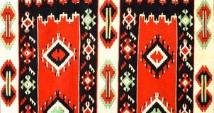 手被编织的地毯 库存照片
