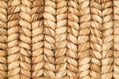 手被编织的西沙尔麻地毯细节 免版税库存照片