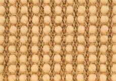 手被编织的西沙尔麻地毯细节 库存照片