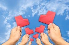 手被采摘的心脏 免版税库存图片
