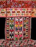 手被绣的女性民间服装 免版税库存照片