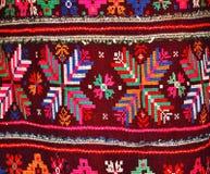手被绣的女性民间服装 免版税库存图片
