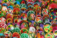手装饰的墨西哥板材 免版税图库摄影