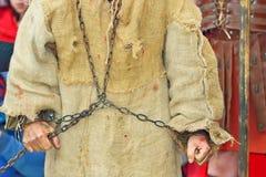 手铐囚犯 免版税库存图片