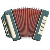 手风琴俄语 免版税库存图片
