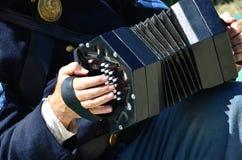 手风琴六角形手风琴 免版税图库摄影