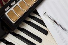 手风琴和音乐书的关键字  库存照片