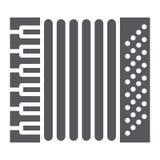 手风琴纵的沟纹象、音乐和仪器,口琴标志,向量图形,在白色背景的一个坚实样式 向量例证