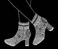 手高跟鞋鞋子例证 库存图片
