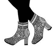 手高跟鞋鞋子例证 免版税库存照片