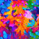 手画丙烯酸酯的一个明亮的样式 库存图片